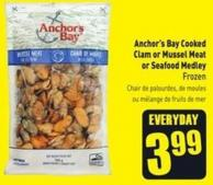 Anchor's Bay Cooked Clam or Mussel Meat or Seafood Medley