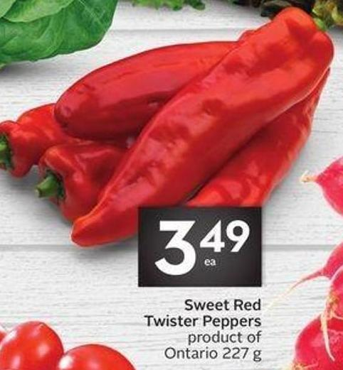 Sweet Red Twister Peppers