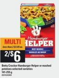 Betty Crocker Hamburger Helper Or Mashed Potatoes - 141-255 G