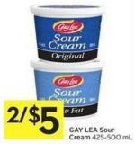 Gay Lea Sour Cream 425-500 mL