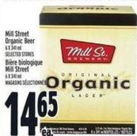 Mill Street Organic Beer 6 X 341 ml