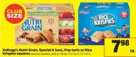 Kellogg's Nutri Grain - Special K Bars - Pop Tarts Or Rice Krispies Squares - 500 g -1.18 Kg