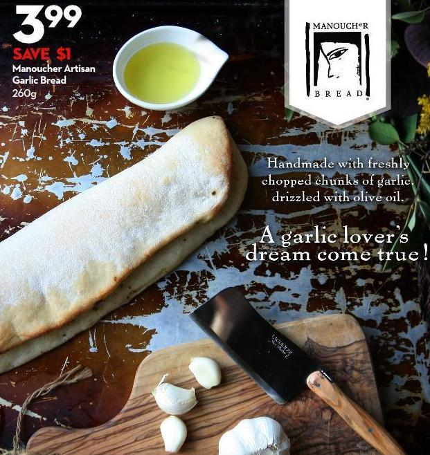 Manoucher Artisan  Garlic Bread 260g