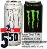Monster Energy Drinks 473 - 550 ml