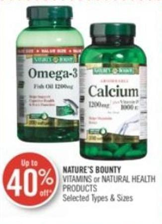 Nature's Bounty Vitamins or Natural Health Products