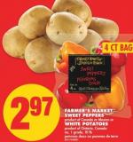 Farmer's Market Sweet Peppers - 4 Ct Bag or White Potatoes - 10 Lb