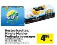 Nestea Iced Tea - Minute Maid Or Fruitopia Beverages - 12 X 341/355 mL