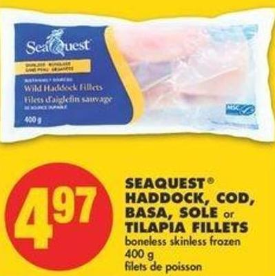 Seaquest Haddock - Cod - Basa - Sole Or Tilapia Fillets - 400 G