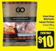 Green Ocean Wild Pacific Salmon Portions Frozen 800 g