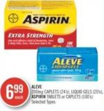 Aleve 200mg Caplets (24's) - Liquid (20's) Aspirin Tablets or Caplets (100's)