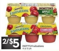 Mott's Fruitsations 4 or 6 Pk