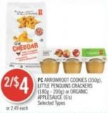 PC Arrowroot Cookies (350g) - Little Penguins Crackers (180g - 200g) or Organic Applesauce (6's)