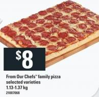 From Our Chefs Family Pizza