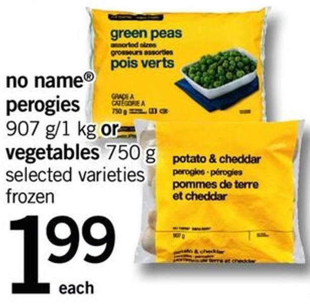 No Name Perogies - 907 G/1 Kg Or Vegetables - 750 G