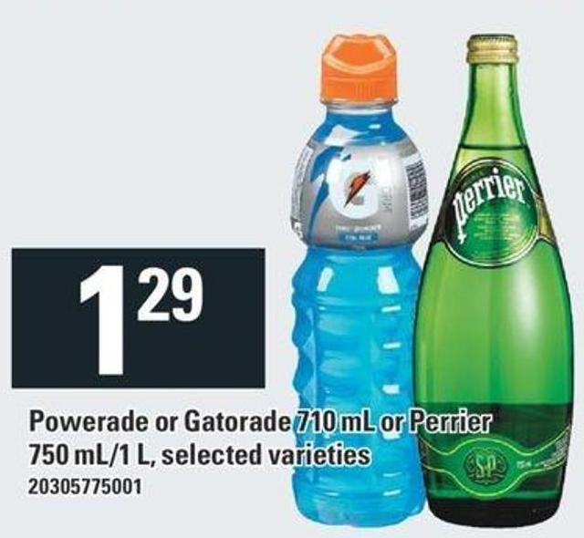 Powerade Or Gatorade 710 Ml Or Perrier 750 Ml/1 L