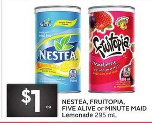 Nestea - Fruitopia - Five Alive or Minute Maid Lemonade