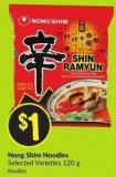 Nong Shim Noodles Selected Varieties 120 g