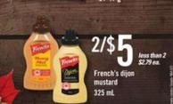 French's Dijon Mustard - 325 mL