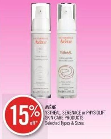 Avène Ysthéal - Serenage or Physiolift Skin Care Products