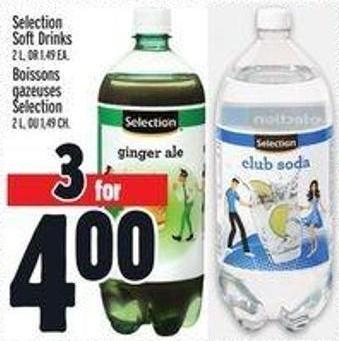 Selection Soft Drinks