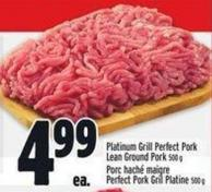 Platinum Grill Perfect Pork Lean Ground Pork