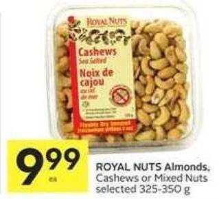 Royal Nuts Almonds.