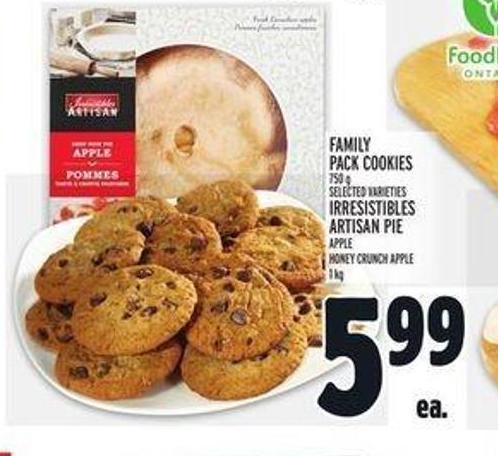Family Pack Cookies 750 G Or Irresistibles Artisan Pie Apple - Honey Crunch Apple - 1 Kg