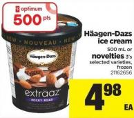 Häagen-dazs Ice Cream - 500 Ml Or Novelties - 3's