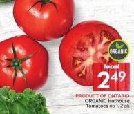 Organic Hothouse Tomatoes