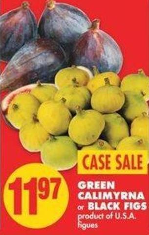 Green Calimyrna Or Black Figs - Case