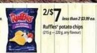 Ruffles Potato Chips (215 g – 220 g -  Any Flavour)