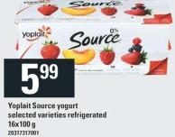 Yoplait Source Yogurt - 16x100 g
