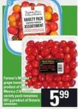 Farmer's Market  Grape Tomatoes 2 Lb Or PC Variety Pack Tomatoes - 681 G