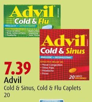 Advil   Cold & Sinus - Cold & Flu Caplets   20