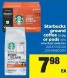 Starbucks Ground Coffee - 340g Or PODS 10's