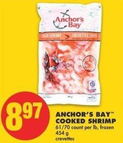 Anchor's Bay Cooked Shrimp - 454 G