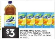 Minute Maid 100% Juice