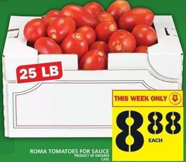 Roma Tomatoes For Sauce