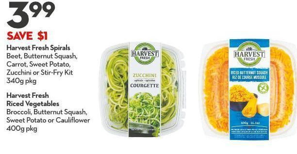 Harvest Fresh  Riced Vegetables Broccoli - Butternut Squash - Sweet Potato or Cauliflower  400g Pkg