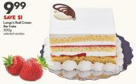 Longo's Real Cream  Bar Cake  500g