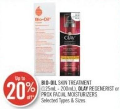 Bio-oil Skin Treatment (125ml - 200ml) - Olay Regenerist or Prox Facial Moisturizers