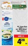 PC Free-run Eggs Dozen Or PC Blue Menu Egg Whites - 1 Kg