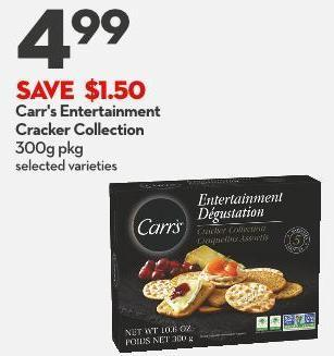 Carr's Entertainment  Cracker Collection 300g Pkg