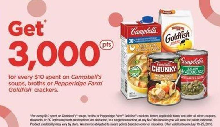 Campbell's Soups - Broths Or Pepperidge Farm Goldfish Crackers