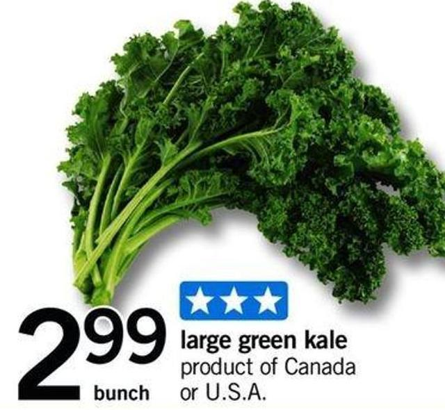 Large Green Kale - Bunch