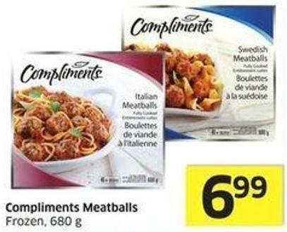 Compliments Meatballs Frozen - 680 g