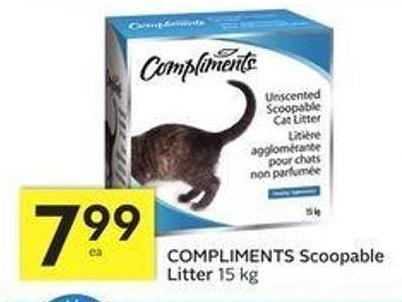 Compliments Scoopable Litter