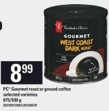 PC Gourmet Roast Or Ground Coffee - 875/930 g