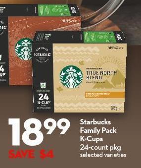 Starbucks Family Pack  K-cups 24-count Pkg