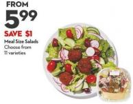 Meal Size Salads Choose From  11 Varieties